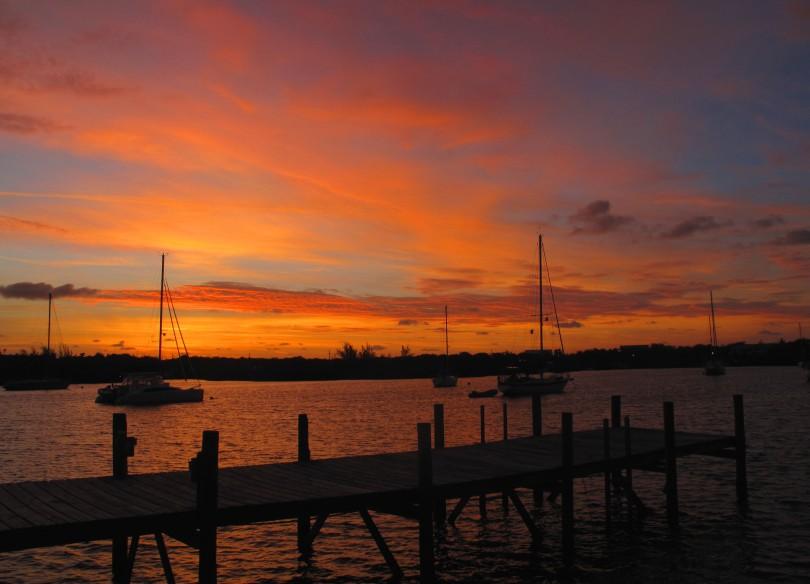 bahamas, abaco, green turtle cay, new plymouth, sunrise