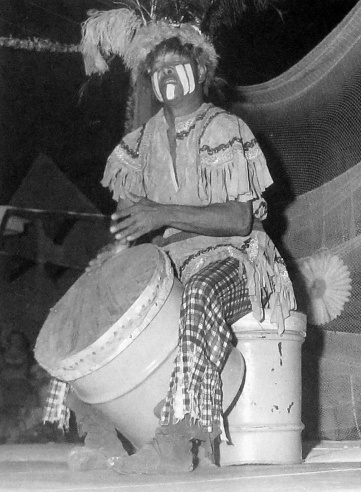 "Bahamian goat skin drummer, John ""Chippy"" Chipman"