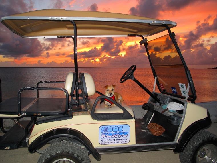 bahamas, abaco, green turtle cay, kool karts, wrigley, sunset