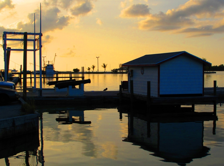 bahamas, abaco, green turtle cay, settlement creek, sunset