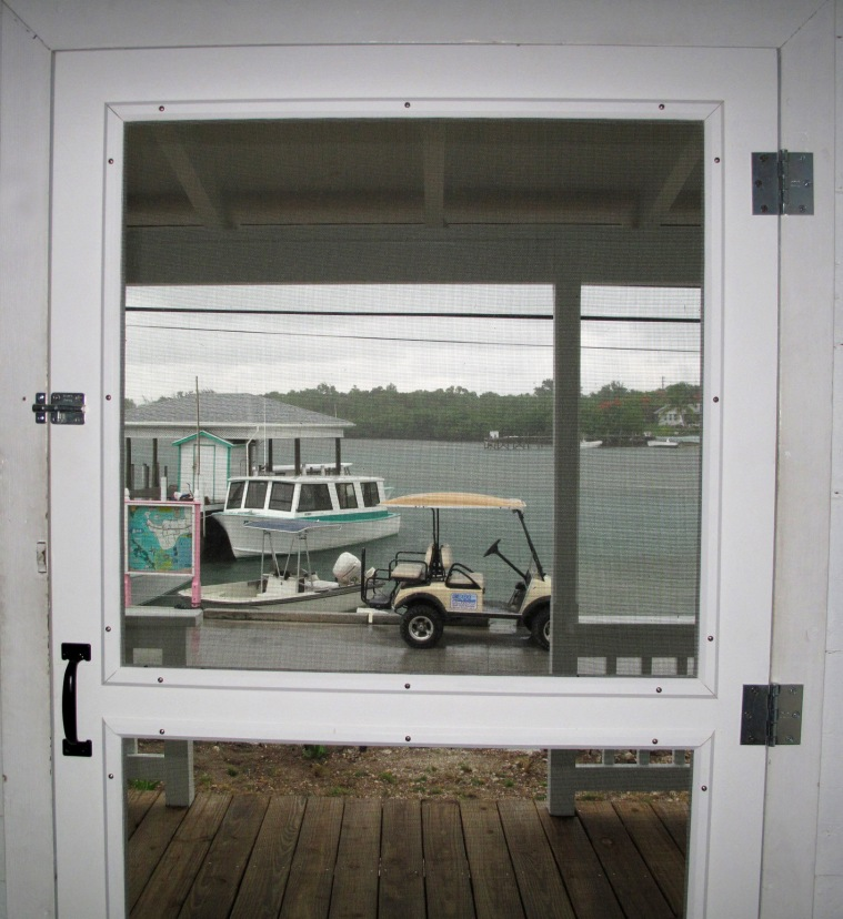 bahamas, abaco, green turtle cay, fish hooks, restoration, screen door