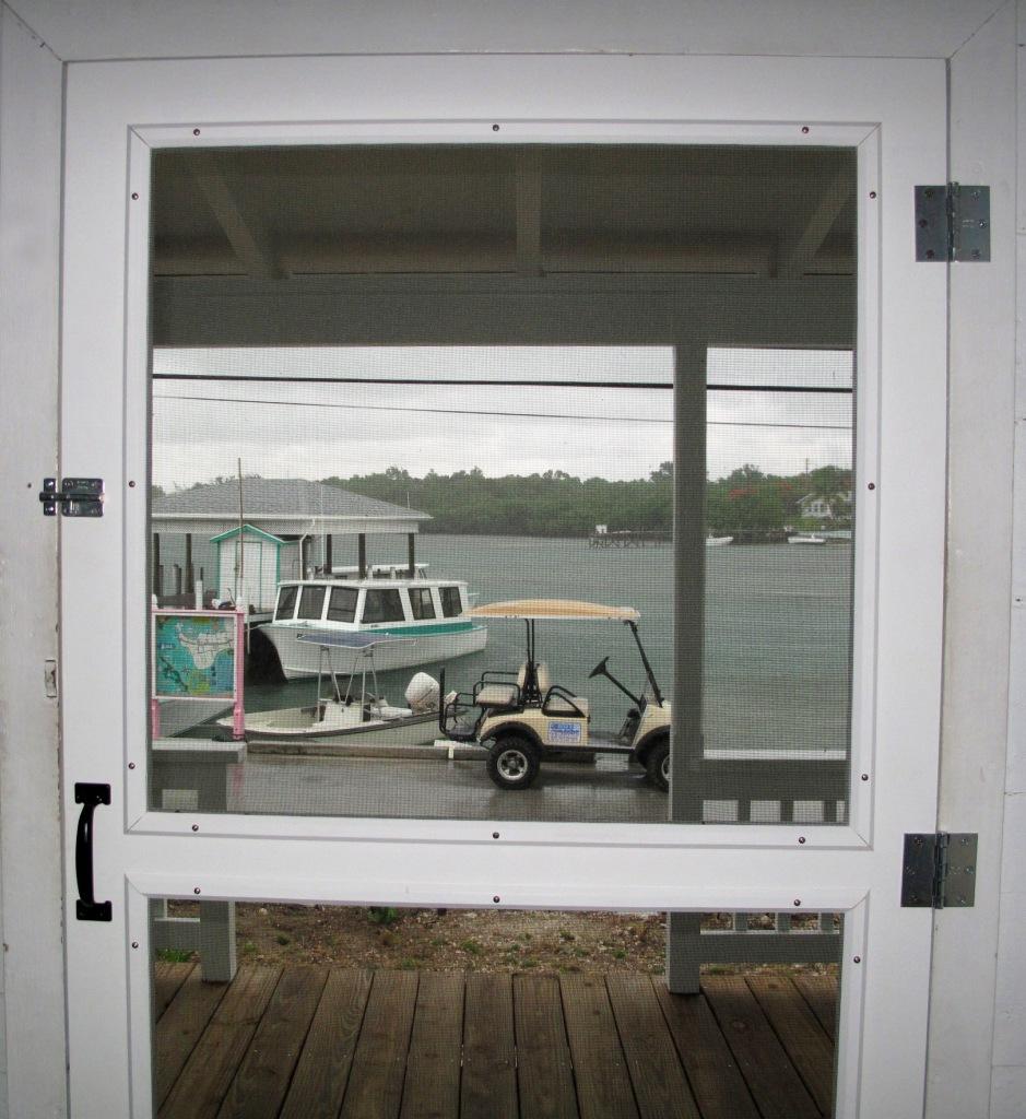 bahamas, abaco, green turtle cay, fish hooks, restoration, screen door