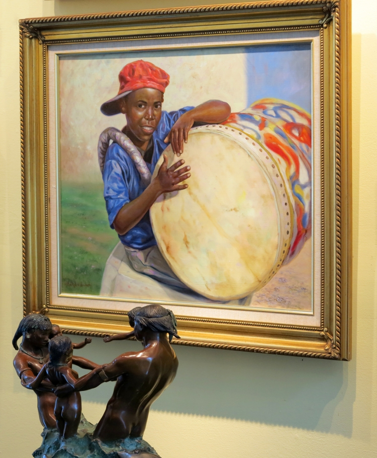 bahamas, abaco, green turtle cay, lowe art gallery, alton lowe, james mastin, junkanoo drums