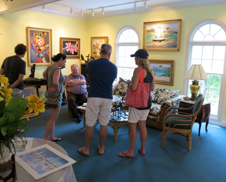 bahamas, abaco, green turtle cay, lowe art gallery, alton lowe, james mastin