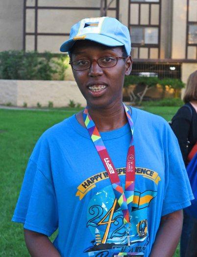 Bahamian Special Olympian Krystal Clarke