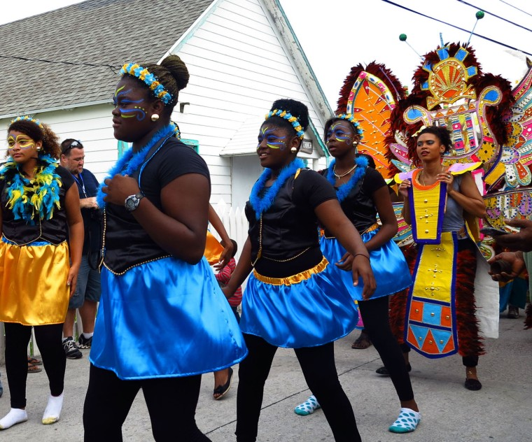 Junkanoo on New Year's Day - a tradition on Green Turtle Cay, Bahamas.