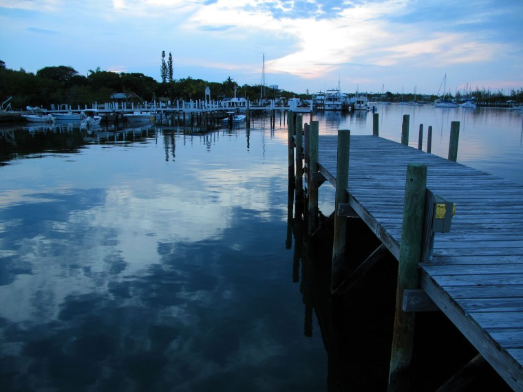 Daily Photo:  Dusk in Black Sound, Green Turtle Cay, Abaco, Bahamas.