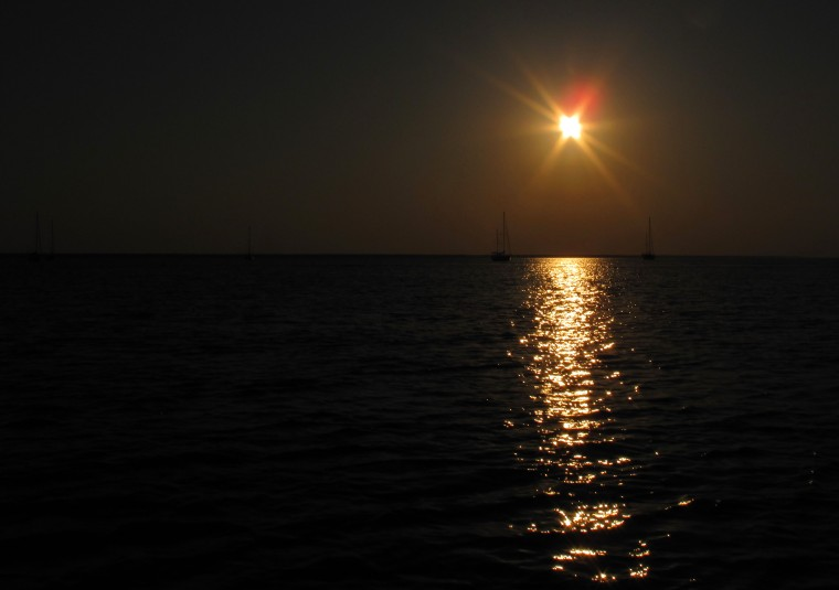 Sunset over Sea of Abaco