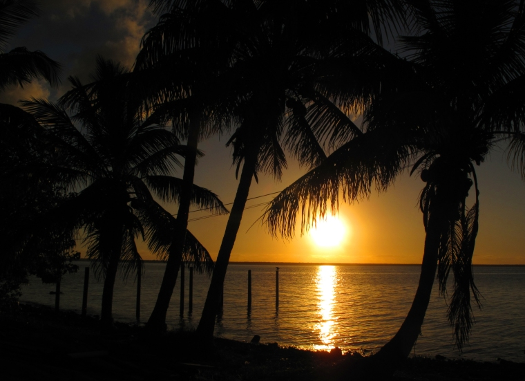 Sunset over the Sea of Abaco -- Green Turtle Cay, Bahamas