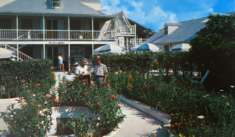 Vintage Postcard, New Plymouth Inn, Green Turtle Cay, Abaco, Bahamas