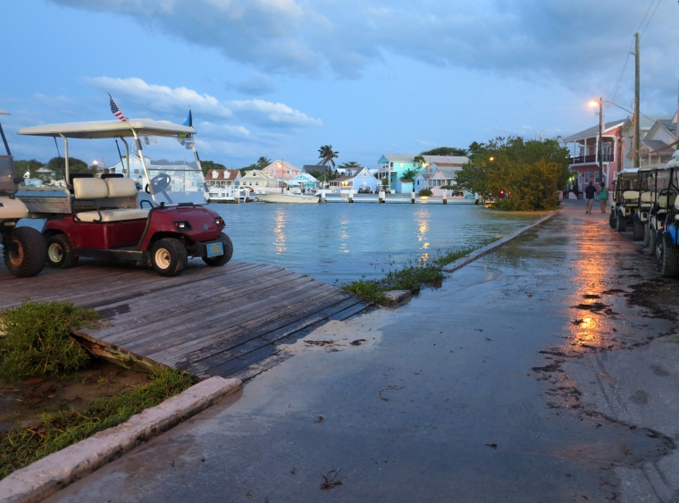 Green Turtle Cay experienced exceptionally high tides last Thursday and Friday nights. Does anyone know why?