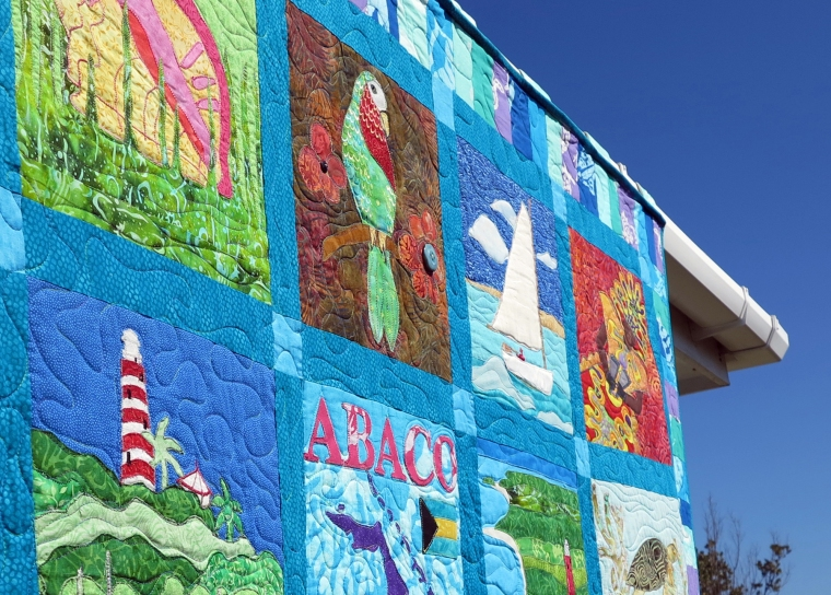 One Week Left to Bid on Incredible Abaco Heritage Quilt -- All Proceeds Benefit the Albert Lowe Museum in Green Turtle Cay.