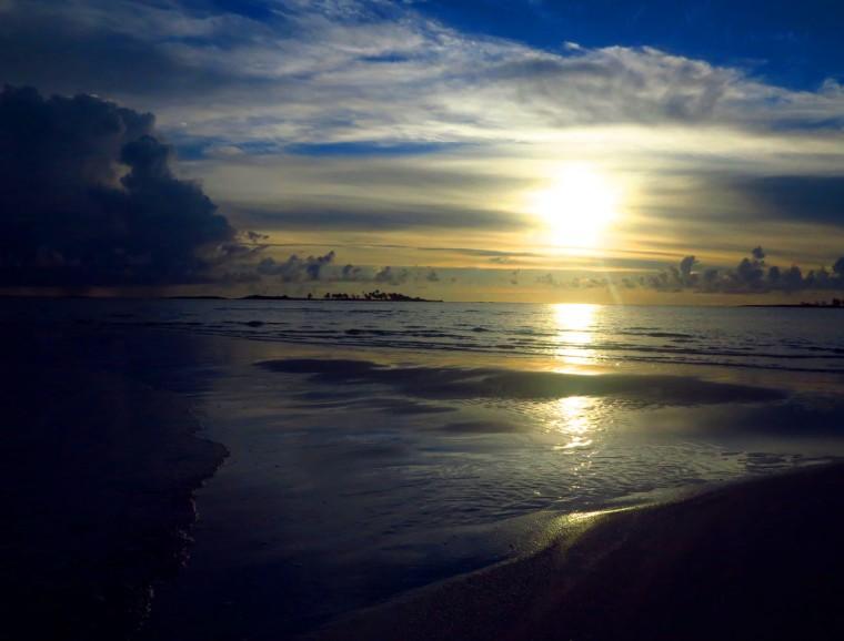 Sunrise over Gillam Bay