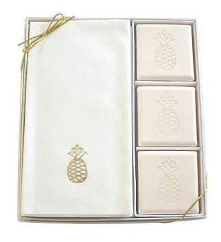 Front Gate Pineapple Soaps and Hand Towel