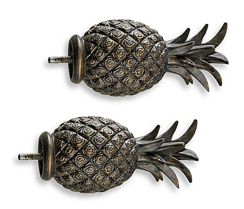 Bed Bath and Beyond Brown Pineapple Finials