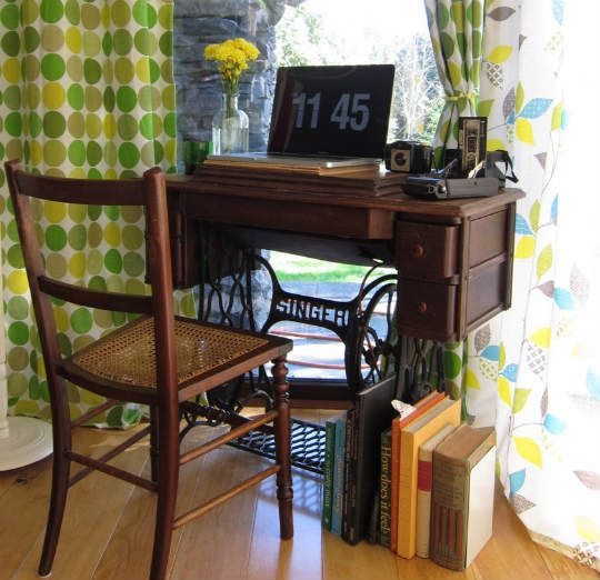 Repurposing Antique Sewing Machines and Stands