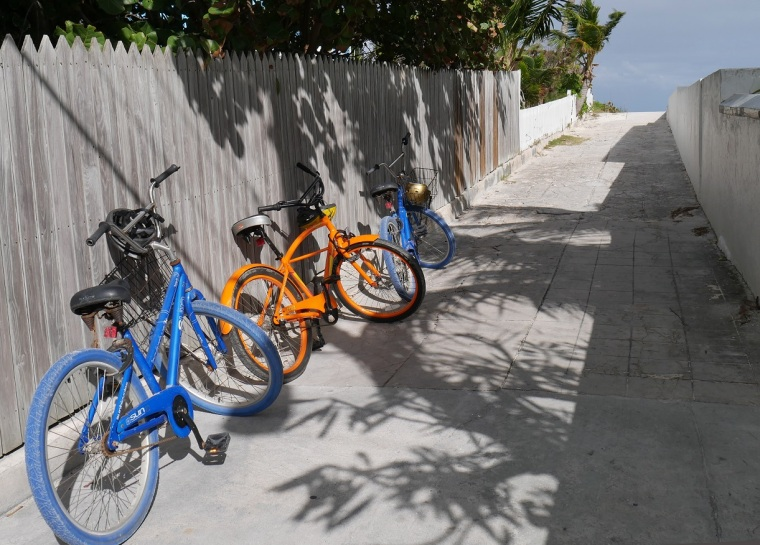 Bikes in Hope Town, Bahamas