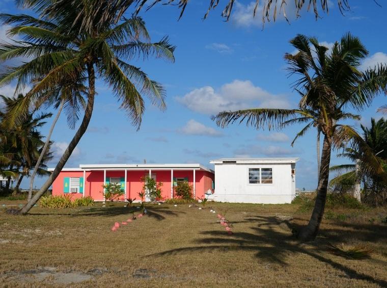 Beach house at Gillam Bay, Green Turtle Cay, Bahamas.