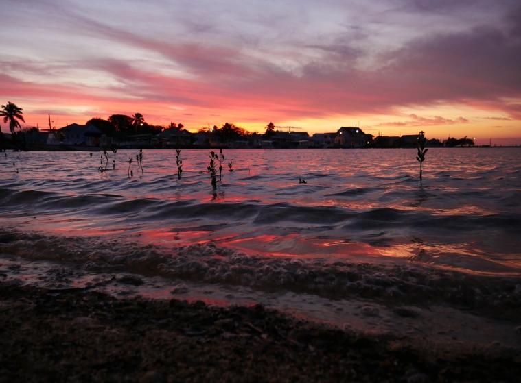 Sunset over Settlement Creek, Green Turtle Cay, Abaco, Bahamas