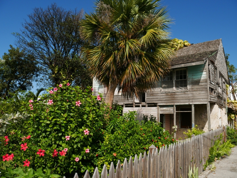 The boyhood home of British Prime Minister, Neville Chamberlain. Green Turtle Cay, Abaco, Bahamas.