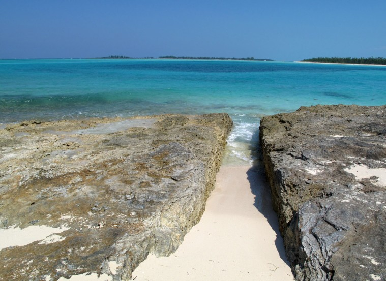 Does anyone know the reason for this cut in the rocks on the ocean beach side of Green Turtle Cay?
