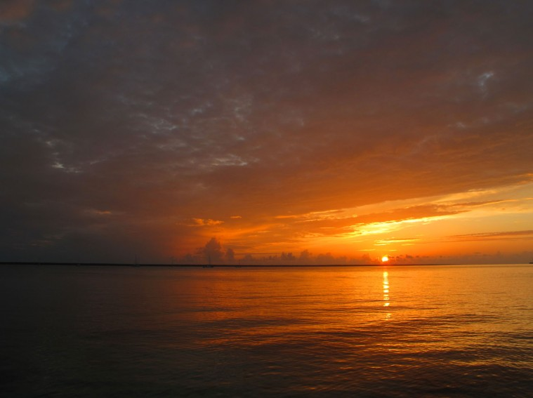 Sunset view from Pineapples Bar and Grill, Green Turtle Cay, Bahamas
