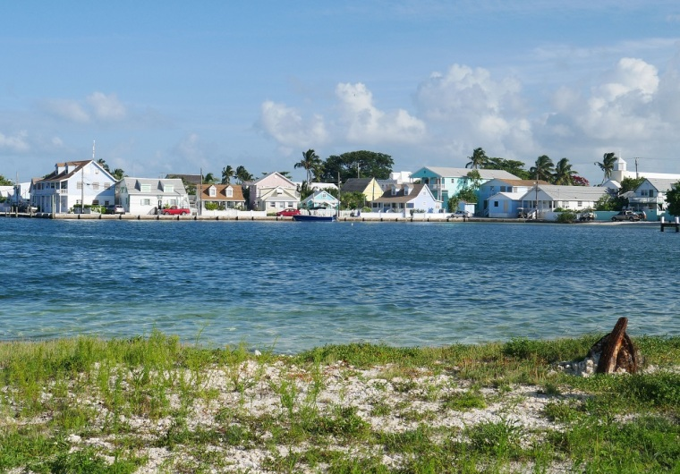 View of New Plymouth from Settlement Point, Green Turtle Cay