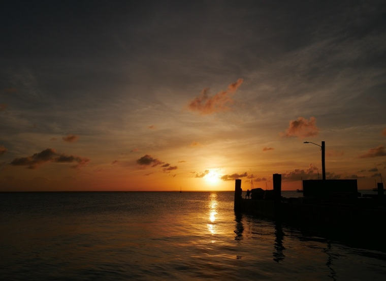 Sunset over the Sea of Abaco - Green Turtle Cay, Bahamas. (Photo: Amanda Diedrick - LittleHousebytheFerry.com)