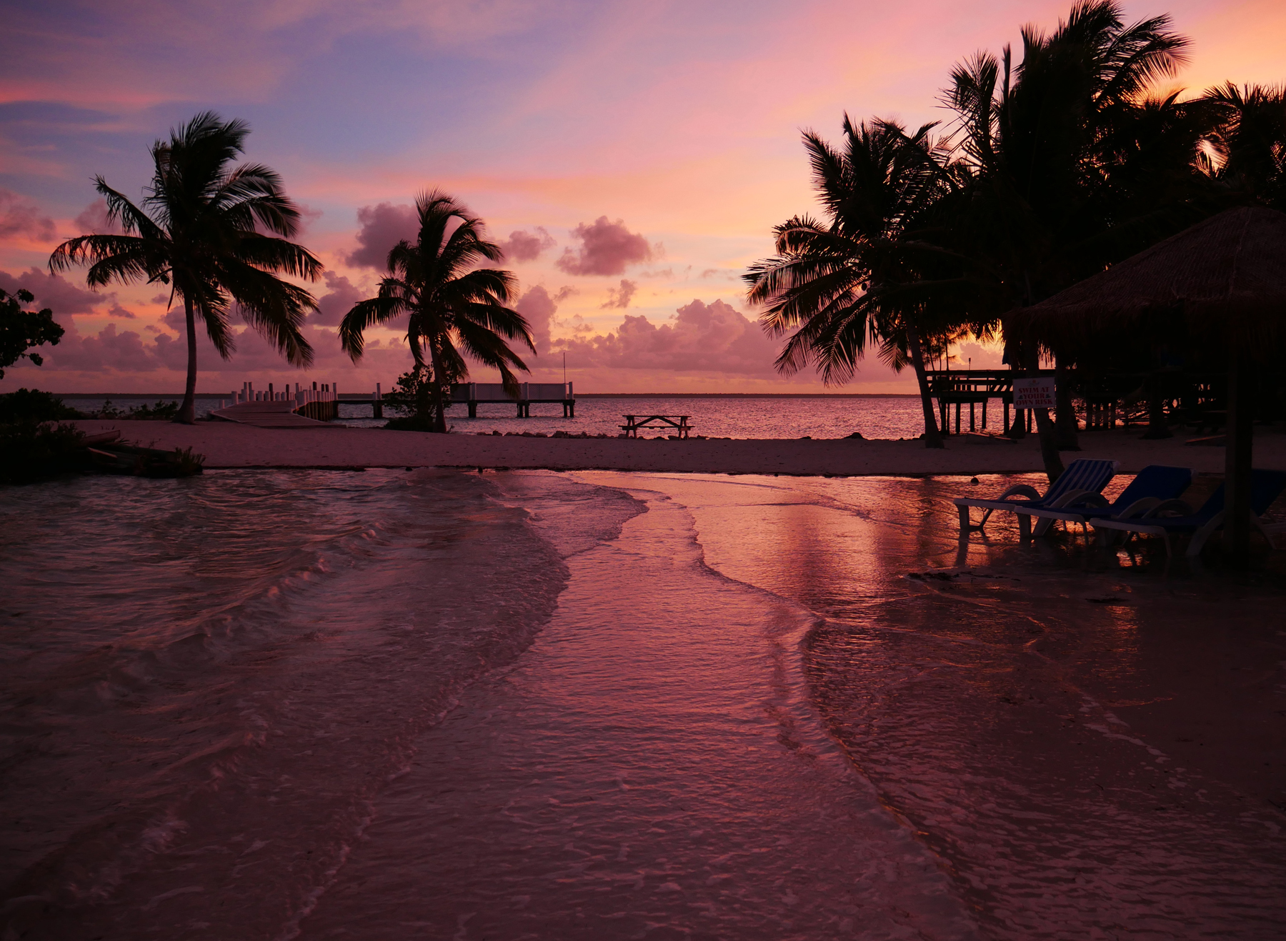 Sunset at Bluff House Beach - Green Turtle Cay, Abaco, Bahamas.