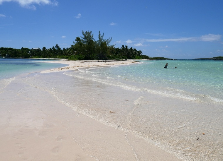 Sandbar at Tahiti Beach - Hope Town, Abaco, Bahamas -- www.LittleHousebytheFerry.com