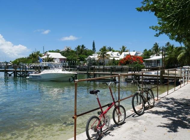 Street scene - Hope Town, Abaco, Bahamas.