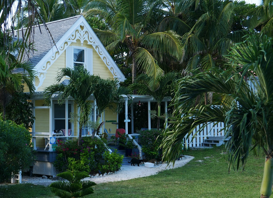 www.LittleHousebytheFerry.com - Daily Photo - Gingerbread cottage in Hope Town, Abaco, Bahamas