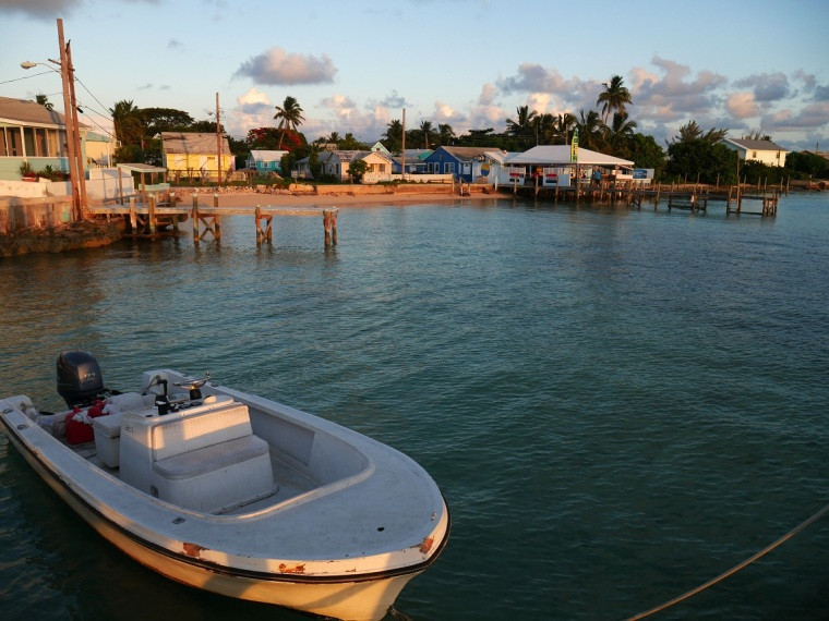 Sunset at Sundowners, Green Turtle Cay
