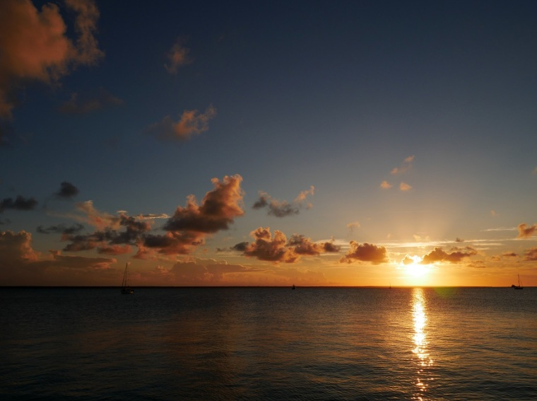 Sunset over Sea of Abaco - Green Turtle Cay, Bahamas - www.littlehousebytheferry.com