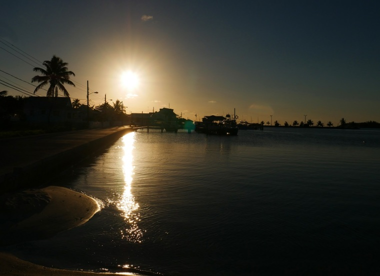 Sunset over Settlement Creek - Green Turtle Cay, Bahamas (Photo: Amanda Diedrick - LittleHousebytheFerry.com)