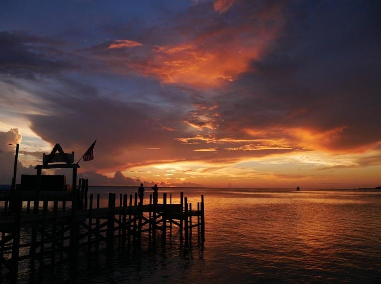 Sunset - Green Turtle Cay, Abaco, Bahamas - LittleHousebytheFerry.com