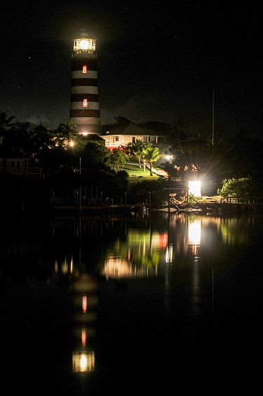 Hope Town Harbour at Night - Photo by Mike Byrnes