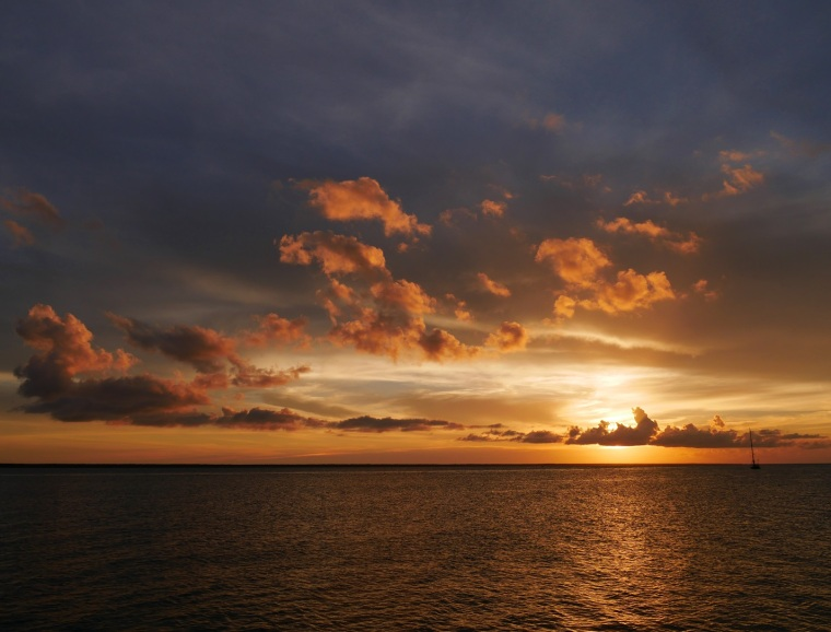 Sunset, Sea of Abaco, Green Turtle Cay, Bahamas
