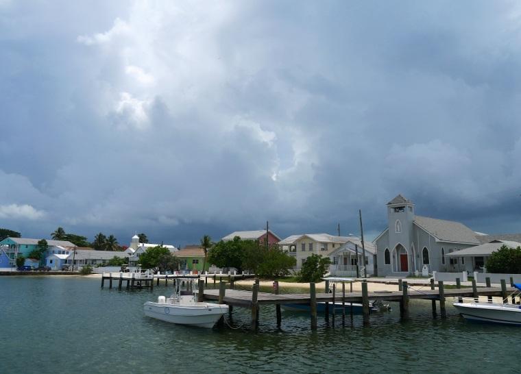 Cloudy Day over New Plymouth  - LittleHousebytheFerry.com