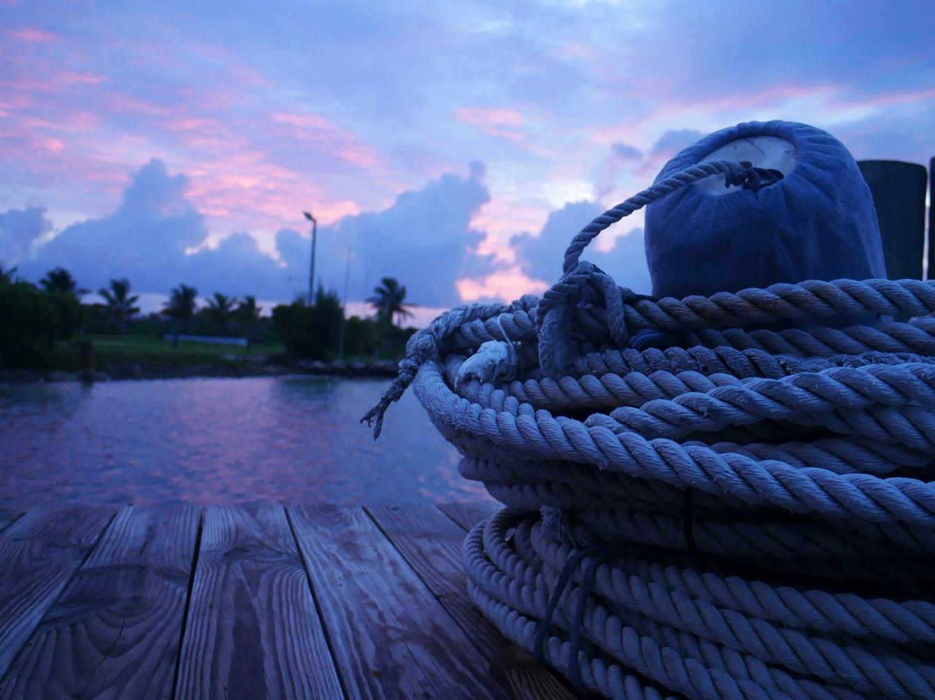 Sunrise Over Settlement Point - Green Turtle Cay, Abaco, Bahamas