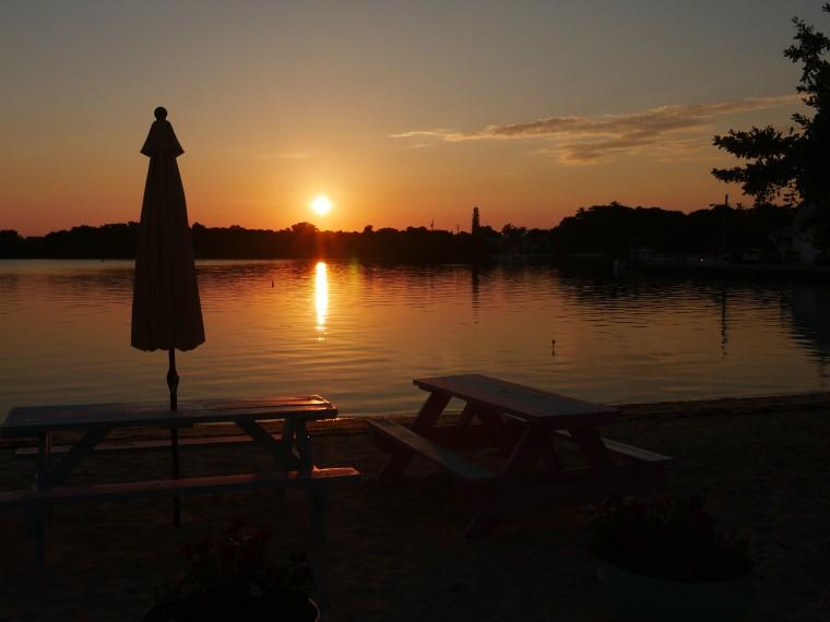 Sunrise over Settlement Creek - Green Turtle Cay, Abaco, Bahamas - www.LittleHousebytheFerry.com