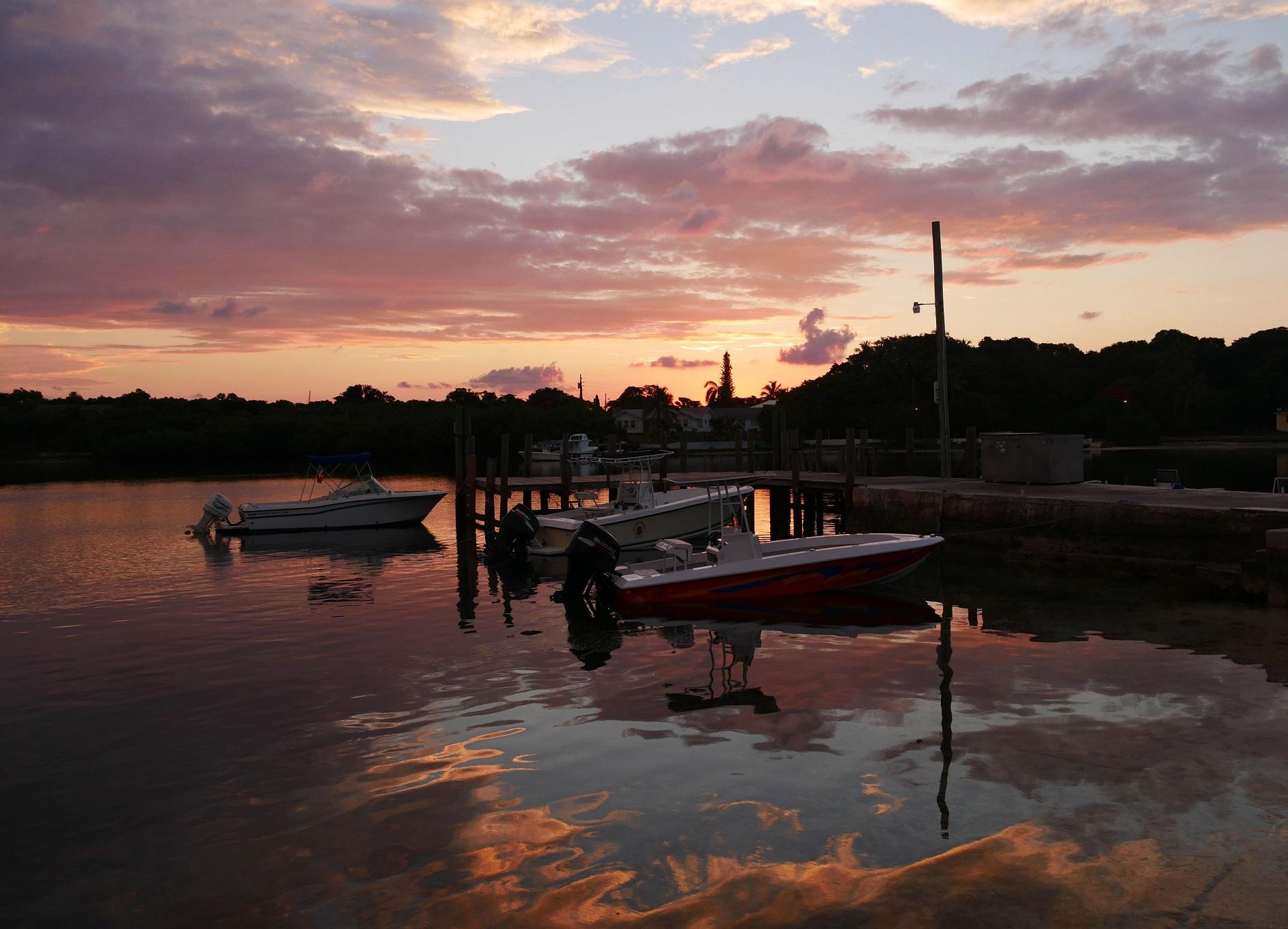 Sunrise over Settlement Creek, Green Turtle Cay, Bahamas