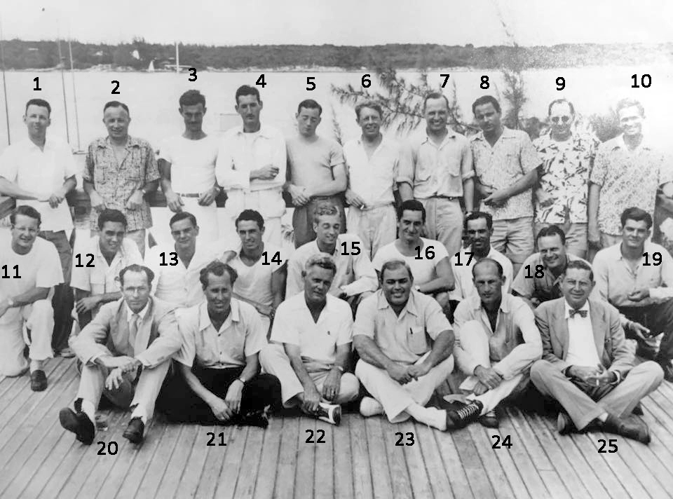 Can you identify anyone in this photo taken in Nassau sometime during the 1940s or 50s?