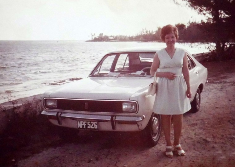 Career girl, Iva Lowe, with her first car