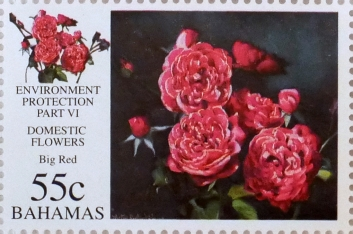 Big Red - Bahamian stamp based on an oil painting by Alton Lowe